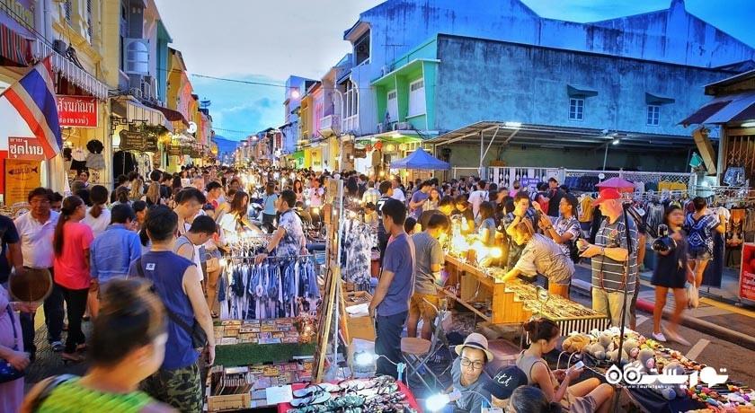 مرکز خرید بازار واکینگ استریت پوکت شهر تایلند کشور پوکت