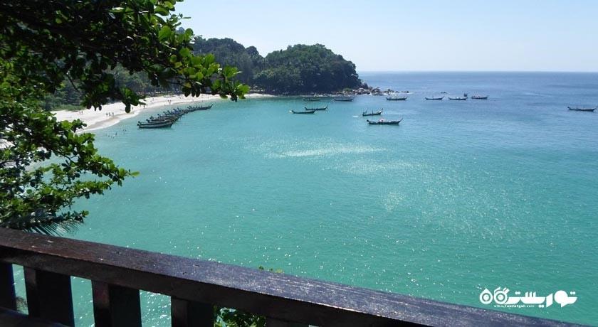 سرگرمی ساحل آزادی یا فریدام بیچ شهر تایلند کشور پوکت