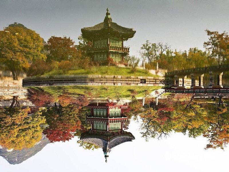 29- عمارت کلاه فرنگی هیانگ وُنجیانگ (Hyangwonjeong Pavilion)