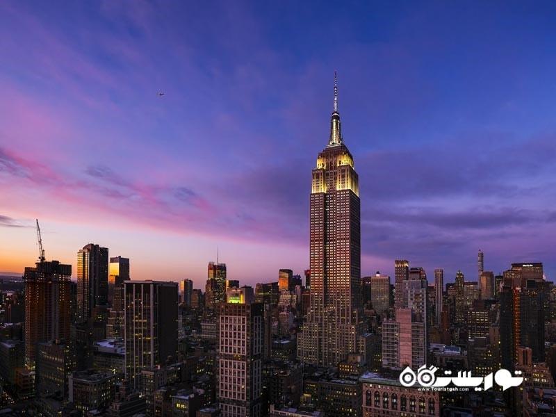 8 – ساختمان امپایر استیت (Empire State Building)