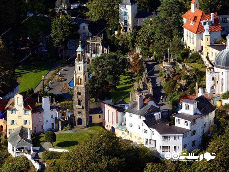 12.روستای توریستی پورتمریون (Portmeirion)، ولز