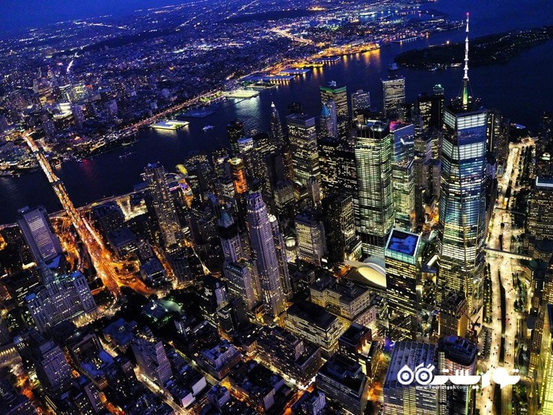 28- نمای مرکز شهر منهتن از بالا