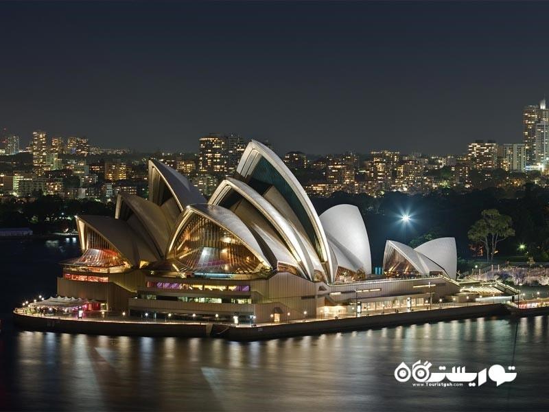 10 – تالار اپرای سیدنی (Sydney Opera House)
