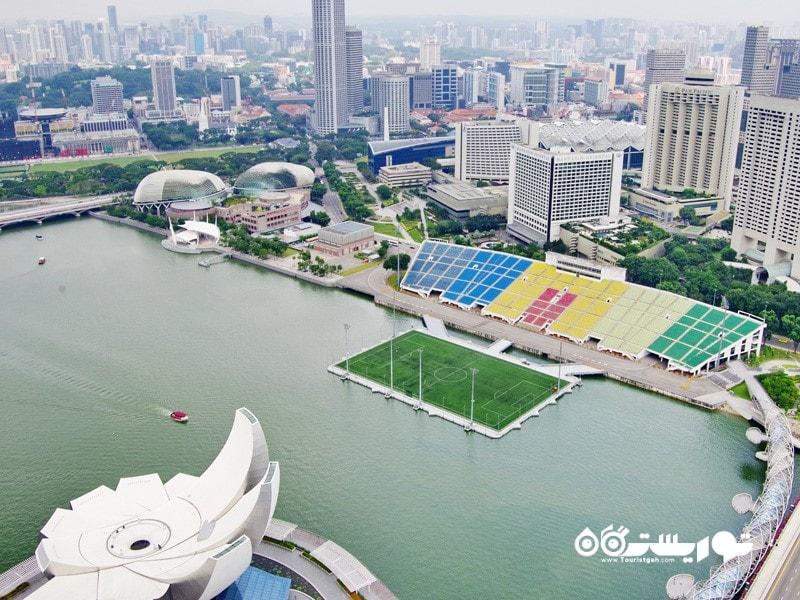 12- ورزشگاه شناور خلیج مارینا (The Float at Marina Bay)، سنگاپور