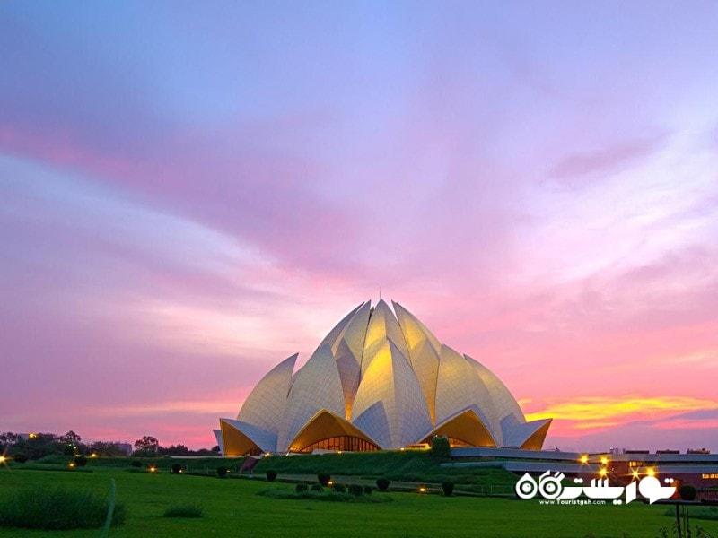 2.معبد لوتوس، دهلی نو (Lotus Temple, New Delhi)