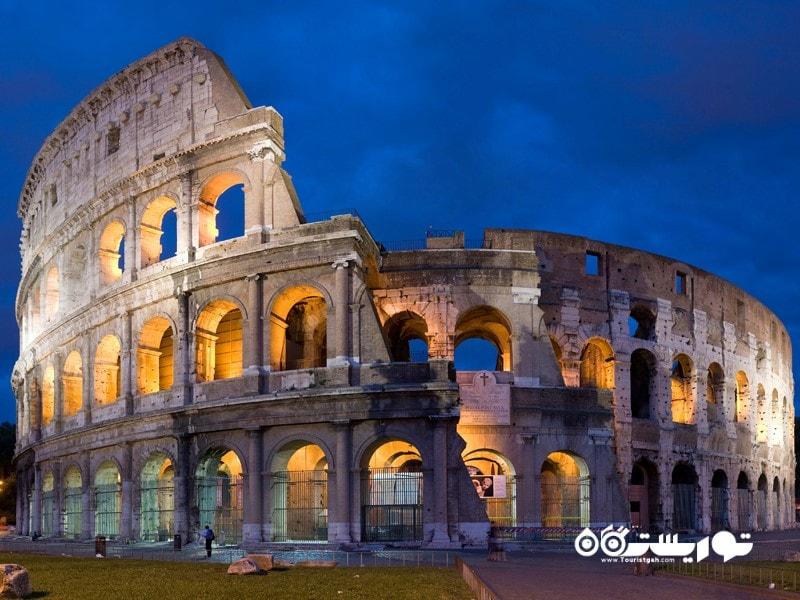 8- آمفی تئاتر کولوسئوم (Colosseum) در کشور ایتالیا
