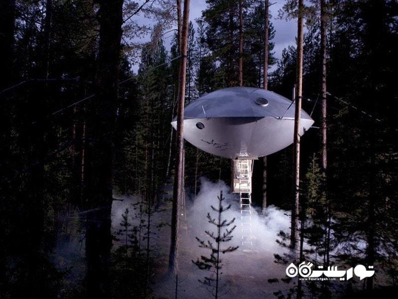 6- هتل درختی (Tree Hotel)، هاراد (Harads)، سوئد