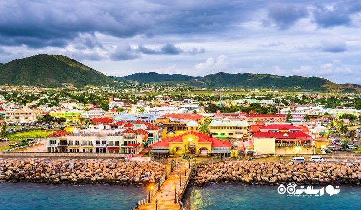 8- سنت کیتس و نویس (Saint Kitts and Nevis) با مساحت 216 کیلومتر مربع