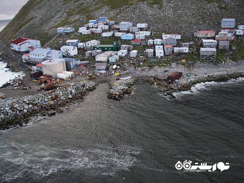 بیگ دایومید (Big Diomede) در روسیه شرقی ترین نقطه قاره آسیا