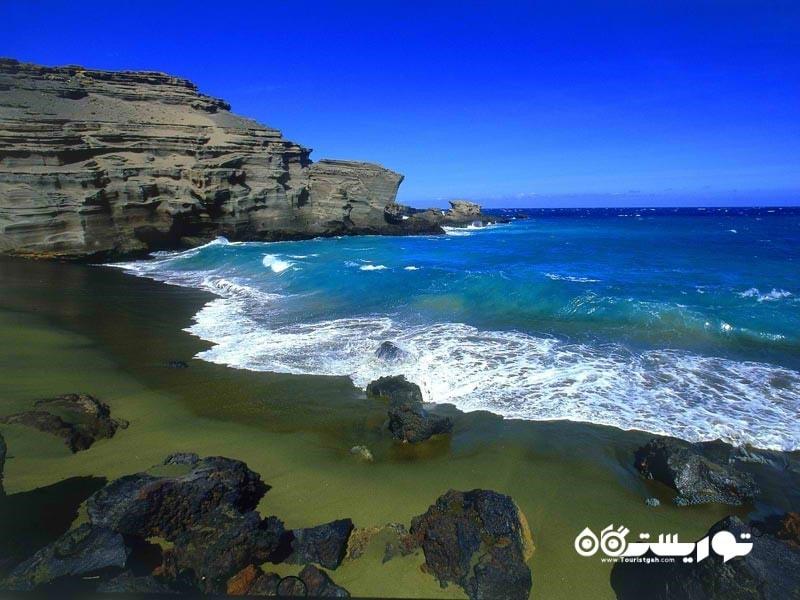 ساحل پاپاکولیا (Papakolea Beach)