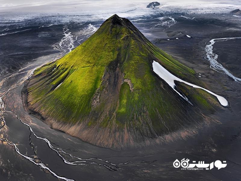 10.کوه آتشفشانی مائلیفل (Maelifell)، ایسلند