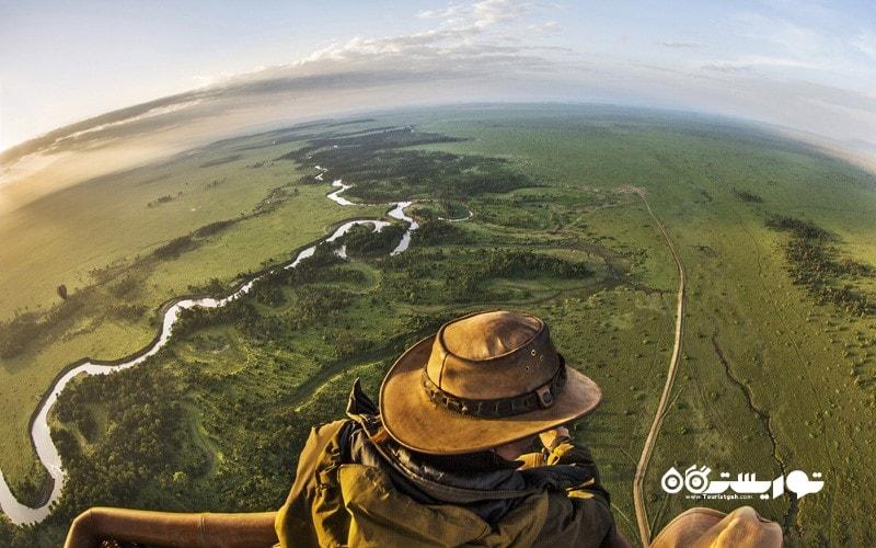 1. با بالون بر فراز ماسایی مارا (Maasai Mara) پرواز کنید، کنیا