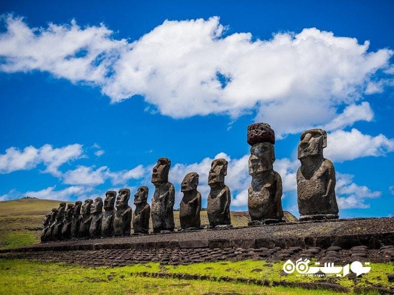 30- مجسمه های موآی (Moai Statues,)