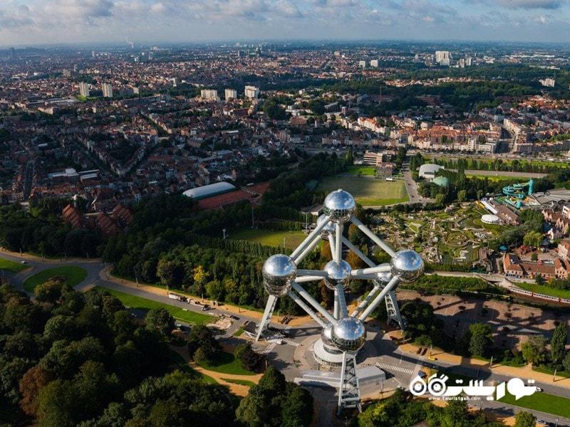 3.اتمیوم- بروکسل (Atomium- Brussels)