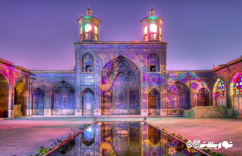 مسجد نصیر الملک: زیباترین مسجد جهان با جلوه ای از رنگ های جادویی