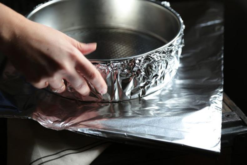 پوشاندن ظرف با فویل