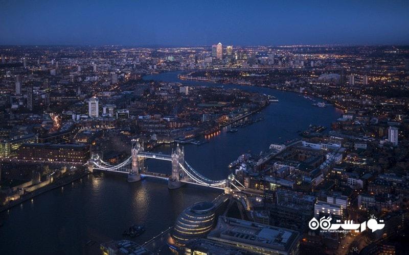 14. لندن را از بالای آسمان خراش شارد (Shard) تماشا کنید، انگلستان