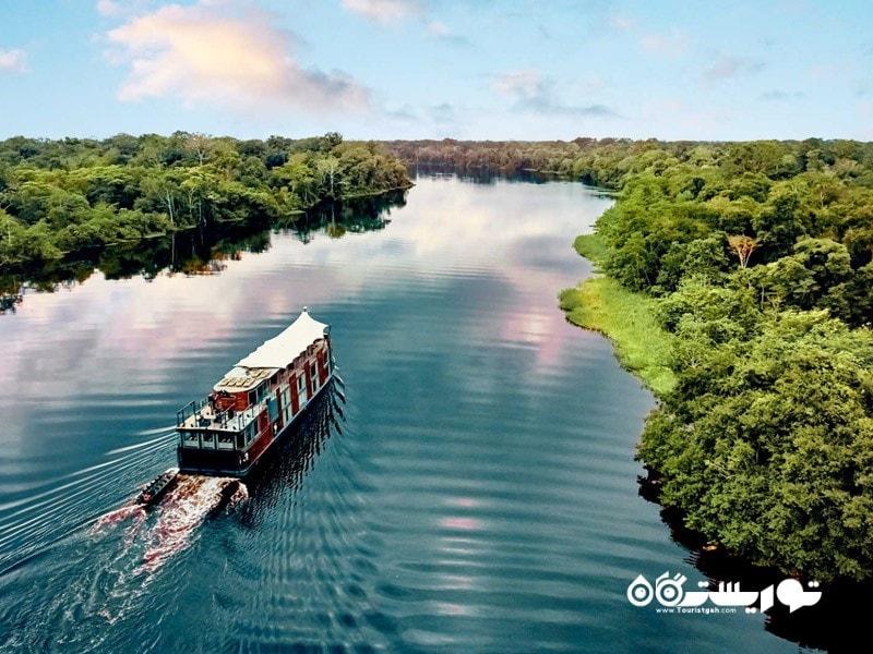 17- سفر دریایی آمازون با قایق