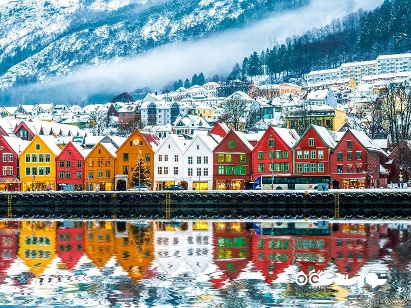 1. برگن (Bergen) در کشور نروژ