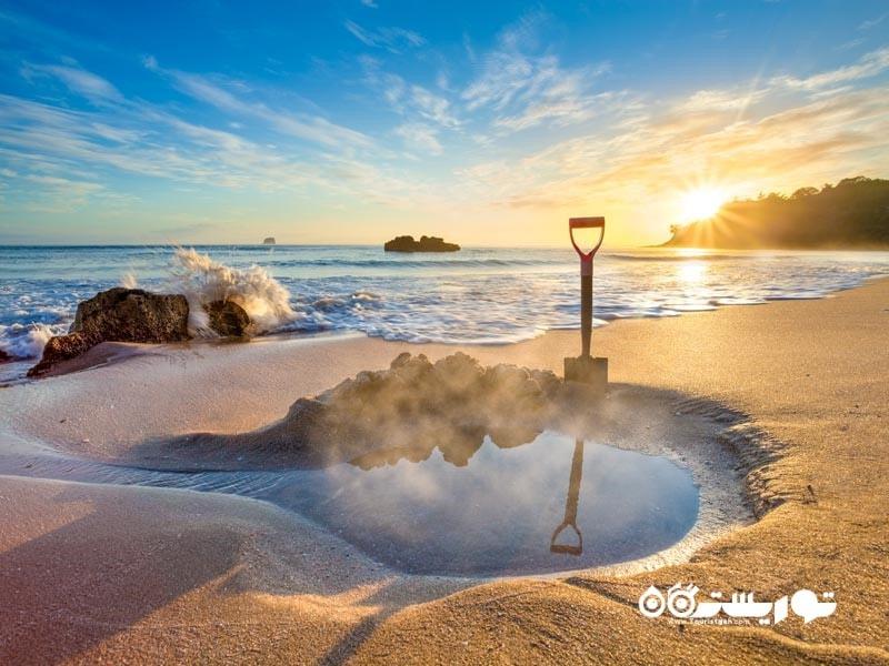 ساحل هات واتِر (Hot Water Beach)