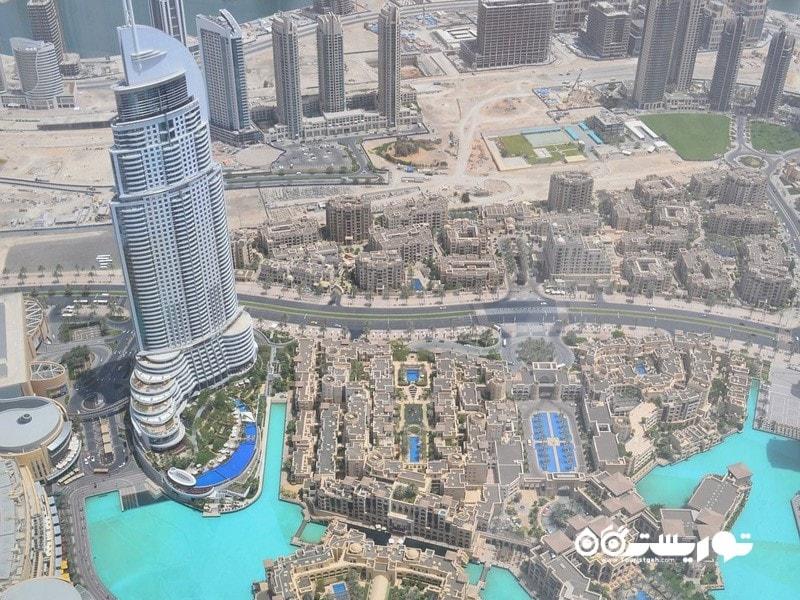 15- منظره از بالای ساختمان برج خلیفه
