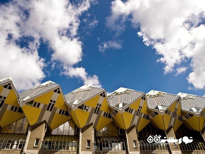 8.خانه های مکعبی، روتردام (The Cube Houses, Rotterdam)