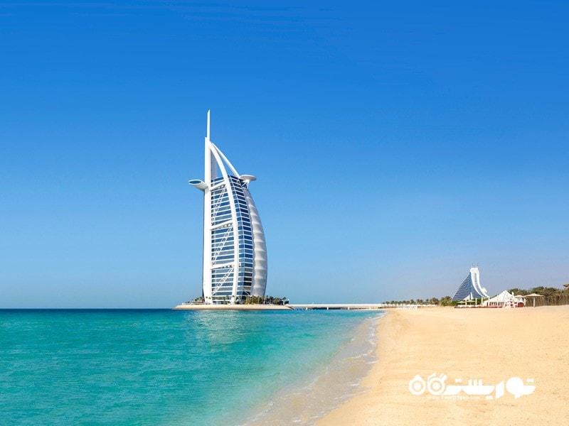 18- برج العرب جمیرا (Burj Al Arab Jumeirah)، دبی، امارات متحده