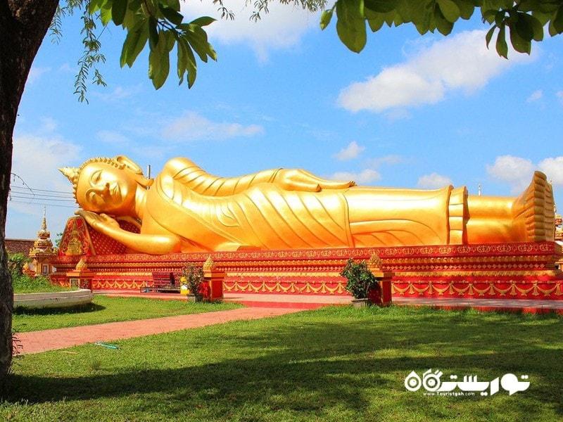 35- بودای طلایی لم داده