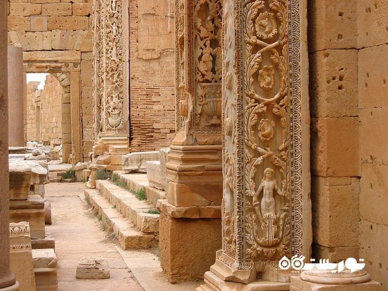 6.ویرانه های لِپیتس ماگنا (Ruins of Leptis Magna)، لیبی
