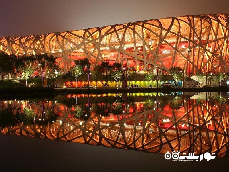 3- ورزشگاه ملی پکن، مشهور به آشیانه پرنده