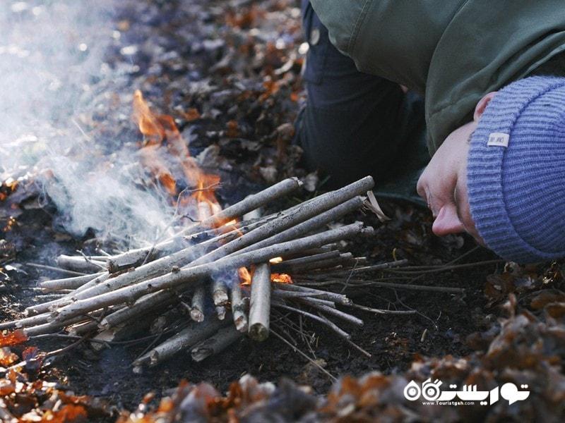 روشن کردن آتش
